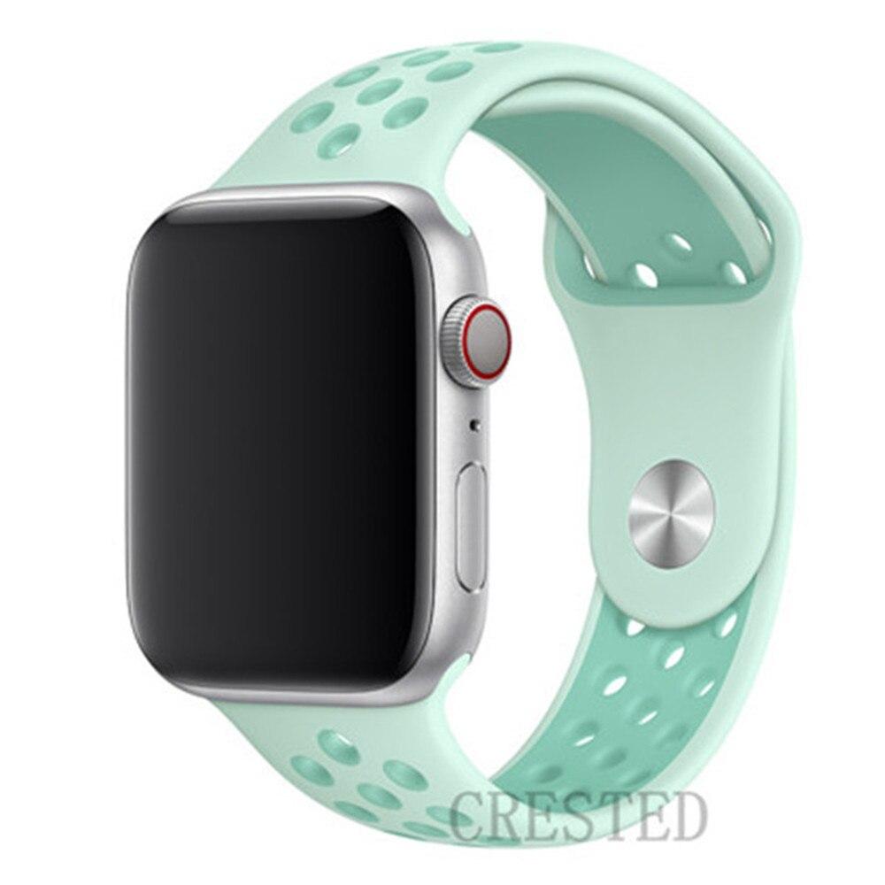 Спортивный ремешок для apple watch band 44 мм/40 мм apple watch 5 4 3 band iwatch band 5 42 мм/38 мм correa браслет ремень аксессуары для часов - Цвет ремешка: TintTropical Twist35