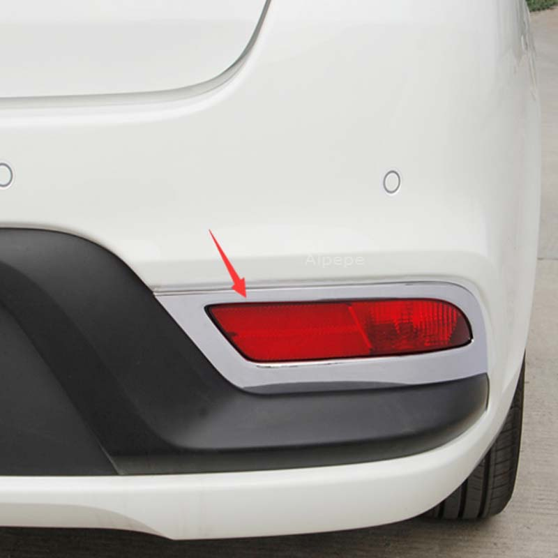 4x ABS Chrome Rear Tail Light Lamp Cover Trim for Nissan Rogue X-Trail 2014-2016
