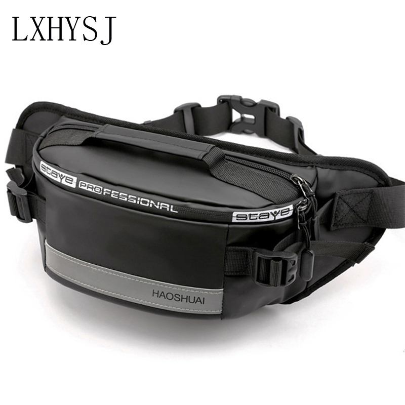 Men Waterproof Waist Bag Fanny Pack Reflective Outdoor Belt Bags Crossbody Pack Trend Short Trip Shoulder Bag Money Waist Packs