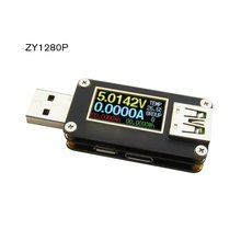 ZY1275 Black table USB Tester Current Voltage Coulometric Capacity Meter Voltmeter Ammeter USB2.0 Communication kingmeter power z high speed usb voltage ammeter qc pd decoy coulometric meter type c test
