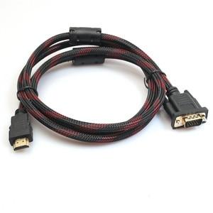 OMESHIN New 1080P HD Audio Converter 1.8m HDMI to VGA Adapter Cable Digital Adapter HDMI 15 pin VGA Connector Cable for Computer