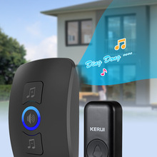 Doorbell-Kit Chimes Touch-Button Waterproof Outdoor Home-Security KERUI Super Wireless