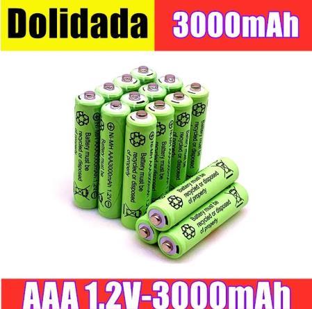 2/4/8/12/20 pièces 100% d'origine AAA 3000 mAh 1.2 V qualité batterie rechargeable AAA 3000 mAh Ni MH rechargeable 1.2 V 2A batterie  