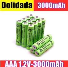 2/4/8/12/20 sztuk 100% oryginalny AAA 3000 mAh 1.2 V jakości akumulator AAA 3000 mAh Ni-MH akumulator 1.2 V 2A baterii
