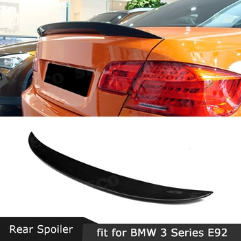 Carbon Fiber Rear Lip Spoiler P Style for BMW 3 Series E92 325i 328i 335i E92 M3 2005-2012 Boot Lid Wings Car Styling image