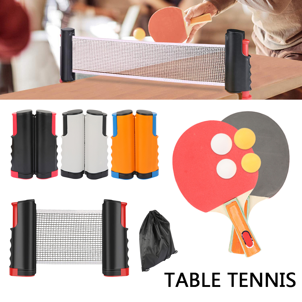 Home Ping Pong Set With Ball And 1.7M Table Net Table Tennis Racket Paddles Pingpong Training Accessories Indoor Sports Exercise