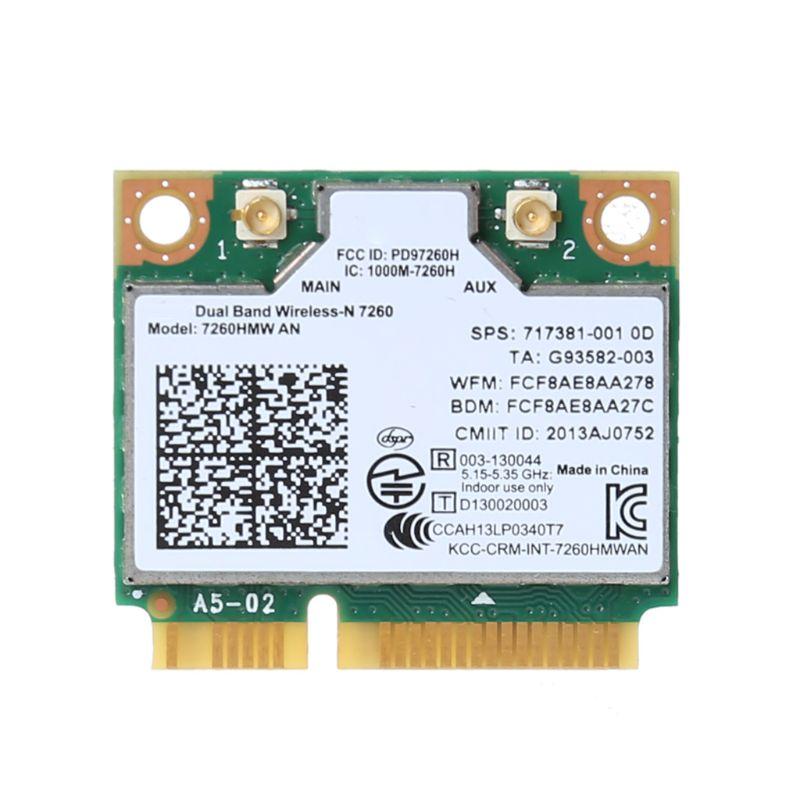 Wireless Wifi Card For Intel AC7260 7260HMW AC Mini PCI-E 2.4G/5Ghz Wlan Adapter