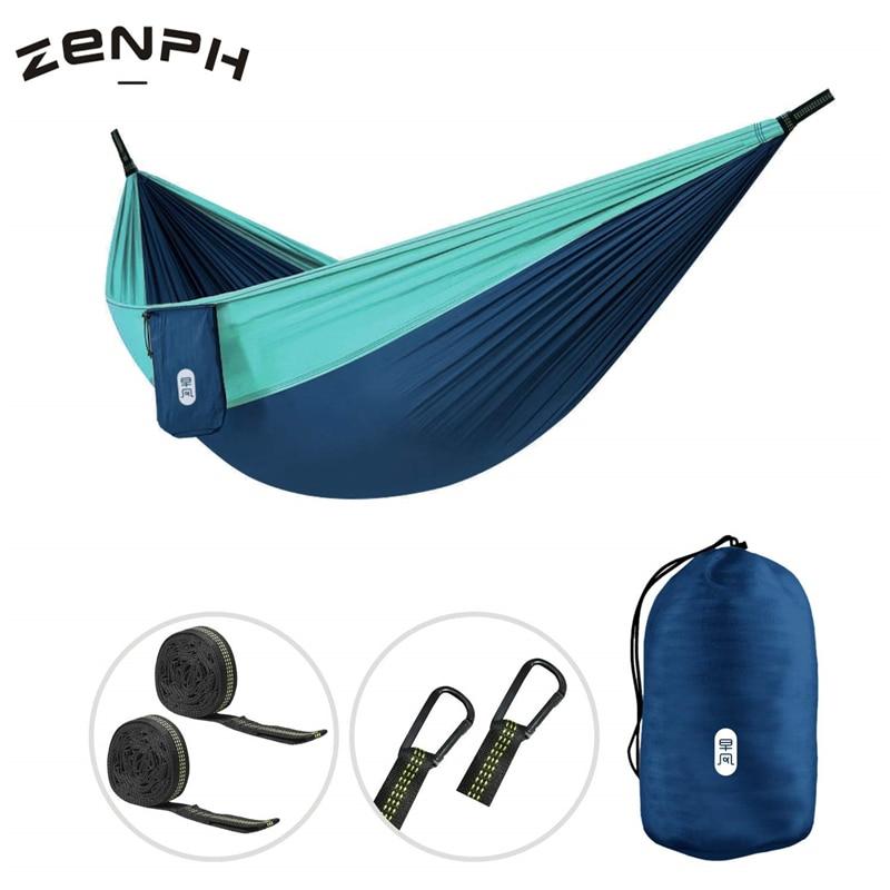 Zenph Hammock Parachute Cloth 210T Nylon 300kg Load-bearing Anti-rollover Lightweight Outdoor Travel Camping