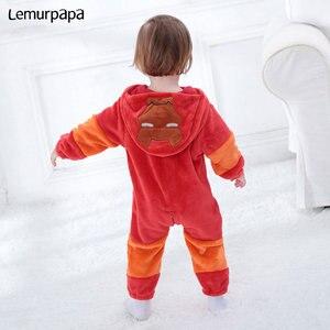 Image 3 - Demir adam Romper erkek bebek giysileri Onesie yenidoğan çizgi film kostümü komik serin pijama pazen sıcak kış bebek oyun oynamak takım elbise