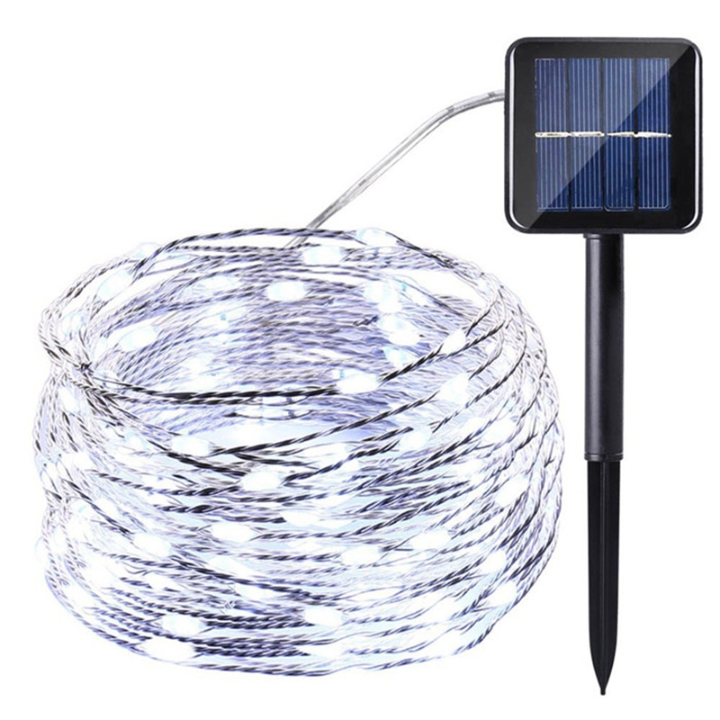 75Ft 22M 200 LED Solar Light Bar Home Garden Copper Wire String Fairytale Outdoor Solar Powered Christmas Party Decoration