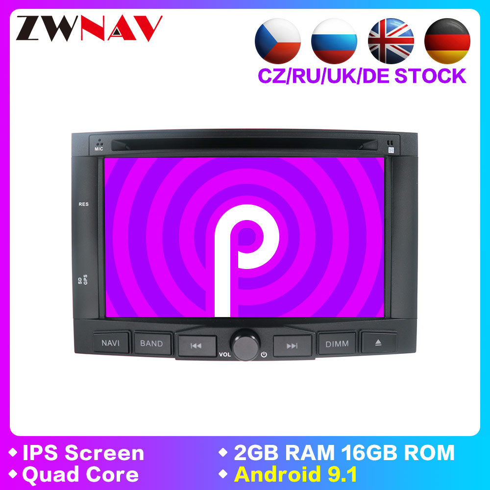 <font><b>2</b></font> <font><b>Din</b></font> Android 9.1 Auto Radio Für Peugeot 3005 3008 5008 Partner Berlingo Auto Multimedia-Player Stereo GPS Navigation DVD DSP IPS image