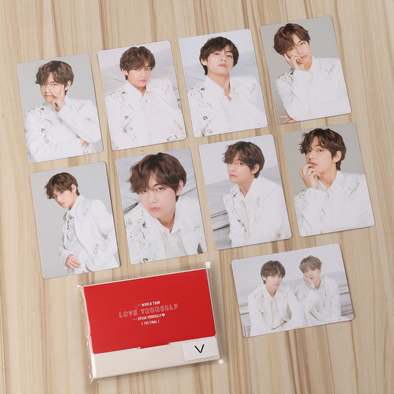 Hot KPOP Card Bangtan Boys Album MAP OF THE SOUL PERSONA Collection FINAL Photocard Self Made Paper Cards LU6934