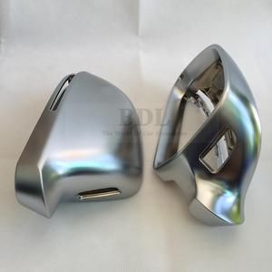 Image 4 - BODENLA matowe chromowane lustrzane osłony lusterko wsteczne boczne Cap S linia zmiana pasa dla Audi A4 B8 A5 8T A6 C6 Q3 A3 8P