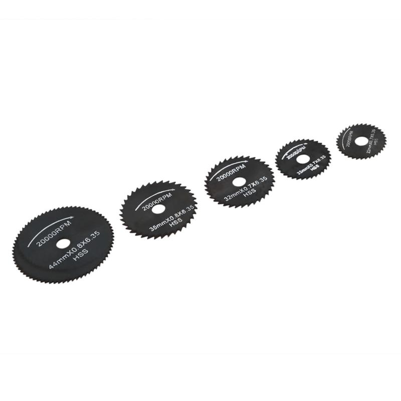 Fashion6pcs Metal HSS Circular Saw Blade Set Cutting Discs For Dremel Rotary Tool