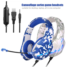 Gaming Headphone Glowing Wired Laptop Over-Ear Xbox Deep-Bass Stereo for PS5 Casque