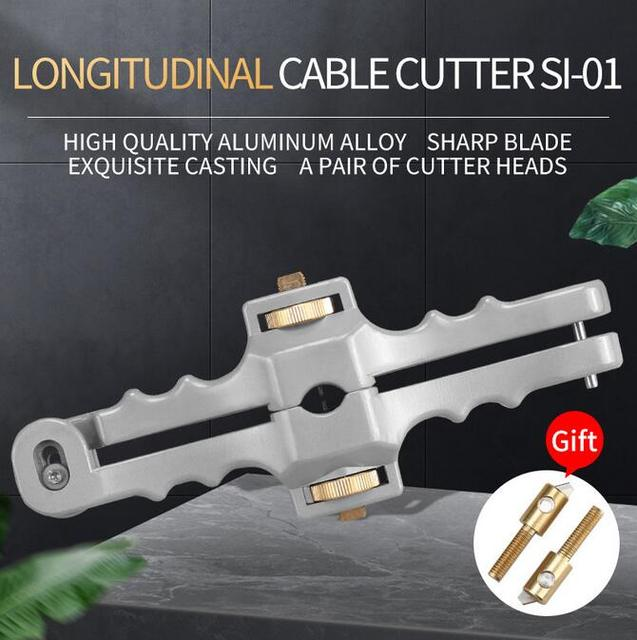 Kesici boyuna açılış bıçak kılıf eğme Fiber optik kablo striptizci SI 01