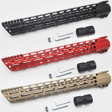 Aplus 15 inç m lok sıkma Handguard raylı Picatinny dağı sistemi Ultralight eğimli kesim Design_Black/kırmızı/ tan Fit. 223/5. 56