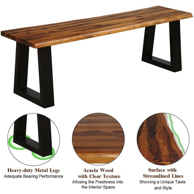 Premium Acacia Wood Patio Bench  3