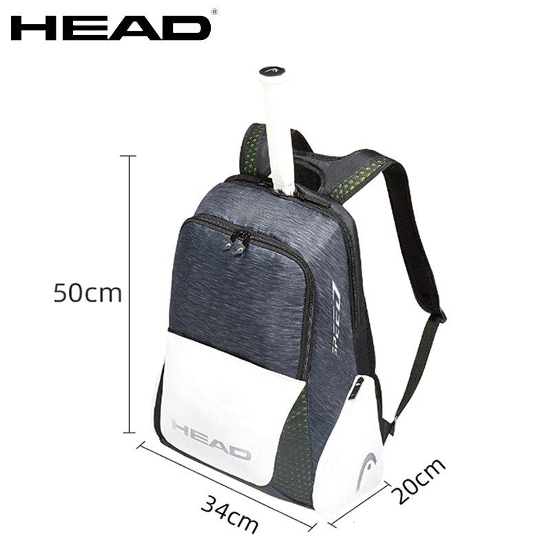 HEAD Tennis Bag Djokovic Tennis Backpack Tennis Racket Bag Training Badminton Backpack Raqueta Tenis Head Backpack Unisex