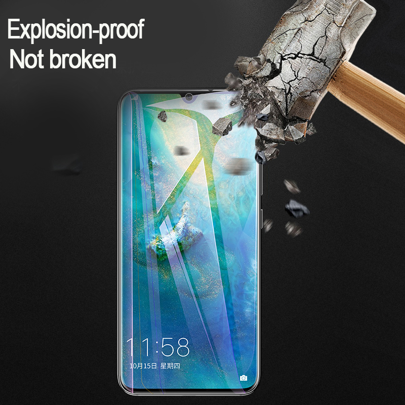 Image 2 - Soft Hydrogel Screen Protector Film For Huawei P20 P30 Lite Pro Protective Film For Huawei Mate10 20 Lite Pro Film Not glass-in Phone Screen Protectors from Cellphones & Telecommunications