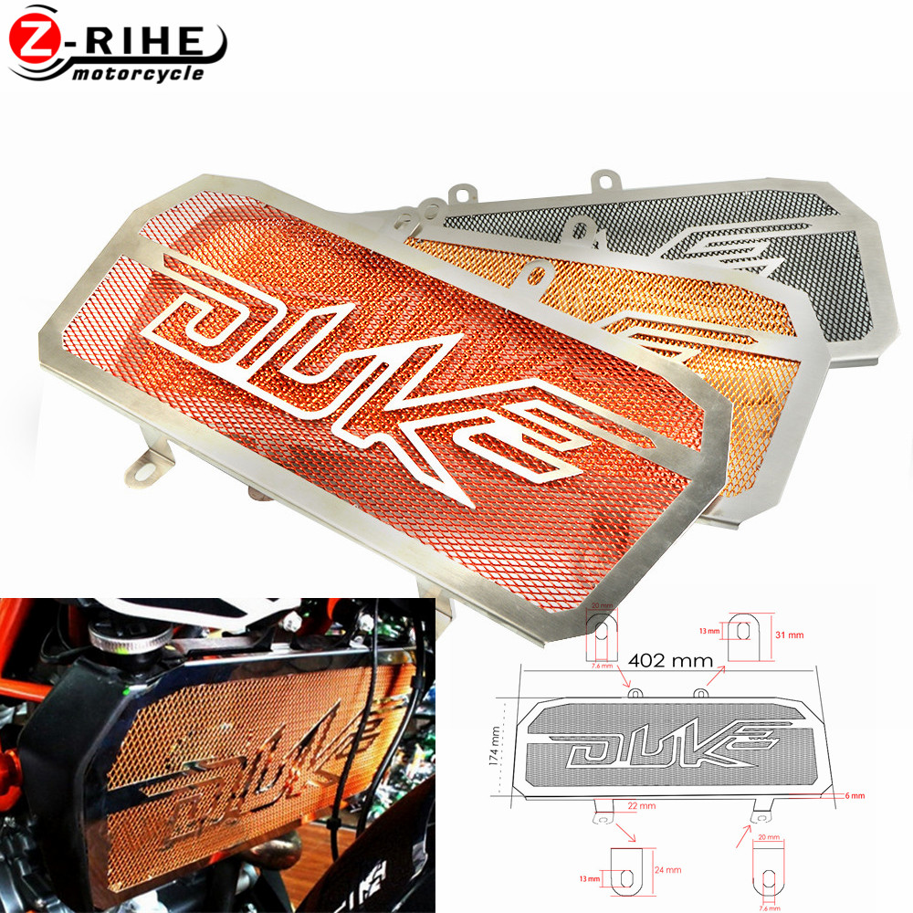 For KTM 125 DUKE 2014 2016 Motorcycle Accessories CNC Stainless Steel Radiator Guards Grille Cover Protecter Moto Part
