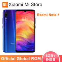Global ROM Xiaomi Redmi Note 7 6GB 64GB Mobile Phone Snapdragon 660 Octa Core 6.3 inch Screen 48MP Rear Camera 4000mAh