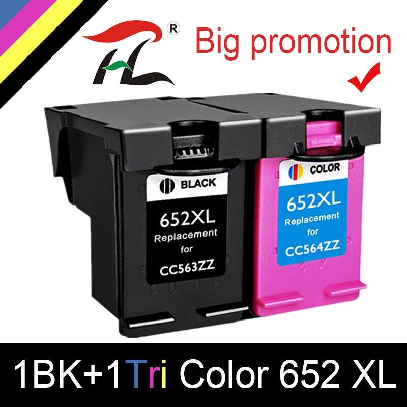 HTL 652XL 652 substituição do cartucho de tinta para HP 652 XL para HP Deskjet 1115 1118 2135 2136 2138 3635 3636 3835 4535