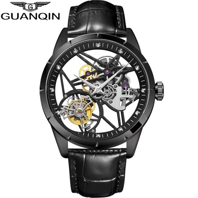 슈퍼 새로운 모델 원래 뚜르 비옹 비즈니스 남성 시계 톱 브랜드 럭셔리 해골 사파이어 시계 남자 Relogio Masculino
