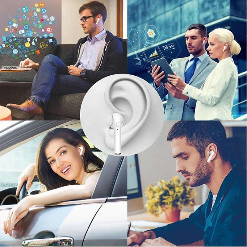 I7s TWS سماعة أذن لاسلكية ستيريو سماعة رأس بخاصية البلوتوث مع صندوق شحن Mic لجميع هاتف ذكي آيفون 11 XS 8 7 6