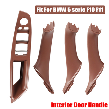 Red Brown Car Inner Door Panel Handle Pull Trim Cover Fit For BMW 5 serie F10 F11 520i 528i 525d 535i 51417225857 51417225853 image