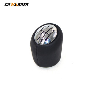 6 Speed Chrome cap Black Character For Renault Laguna II 2 Mk2 2001-2007 Car Leather Gear Shift Knob Lever Stick Handball Head