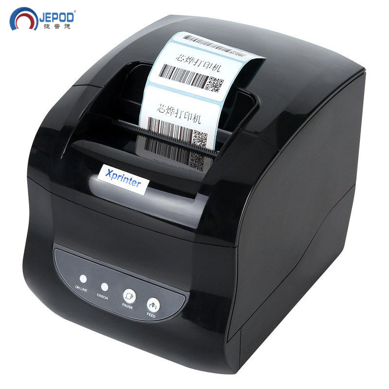 New !JEPOD XP-330B 20-80mm Optional Width Thermal Label Printer USB Desktop Label Printer For Pos System