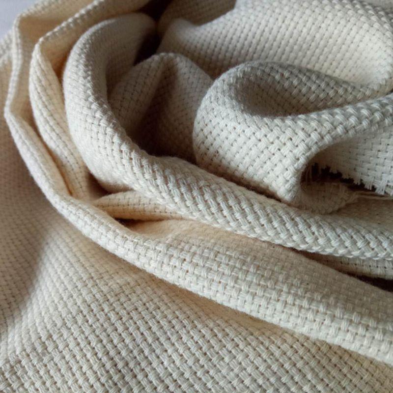 Monges de algodão pano para diy bordado bordado costura punch agulha acessório artesanal presente 185x100cm