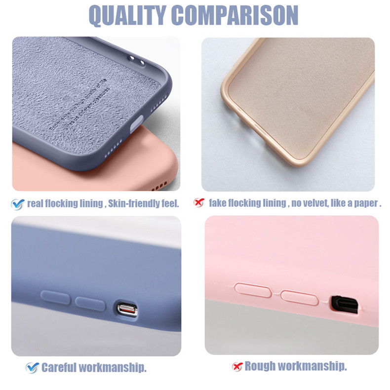 Liquid Silicone Phone Case With Precise Holes And Lens Protection for iPhone 11 Models 6