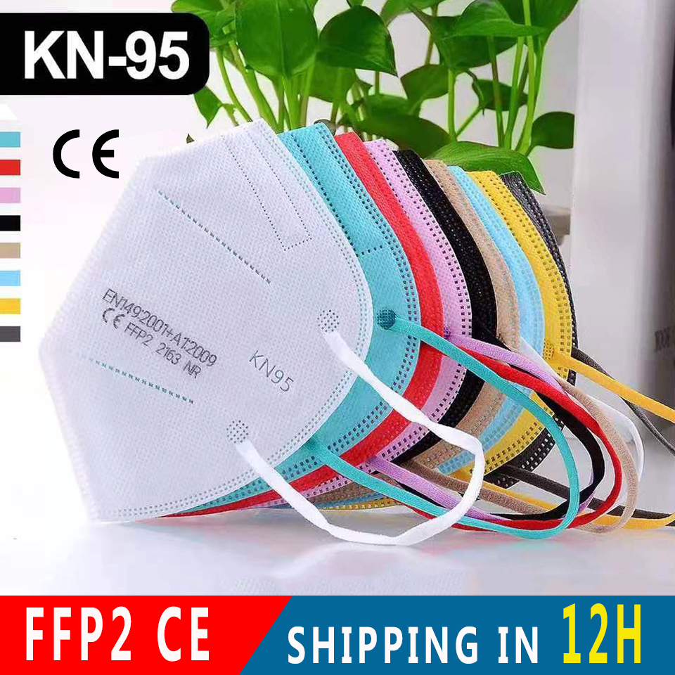5-200 Piece FFP2 Masks KN95 Facial Mascarillas Adults 5 Layers Filter Face Mask Filtration Mouth Mask Protective Respirator Mask