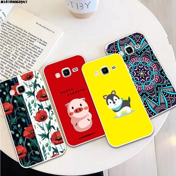 Dog 2 Silicon Soft TPU Case Cover For Samsung Galaxy Core Grand Prime Neo Plus 2 G360 G530 I9060 G7106 Note 3 4 5 8 9 image