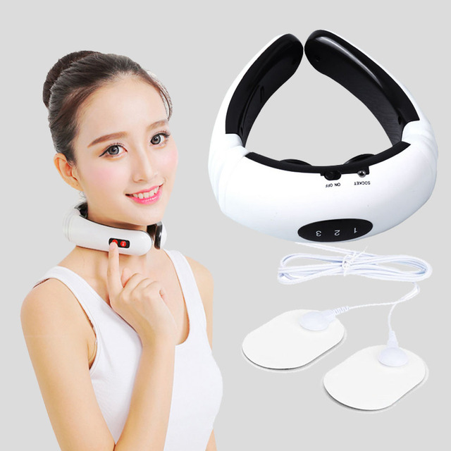 Electric Pulse Back And Neck Massager Far Infrared Heating Pain Relief Tool Healthcare Relaxation Health Care Cervical Massager 1