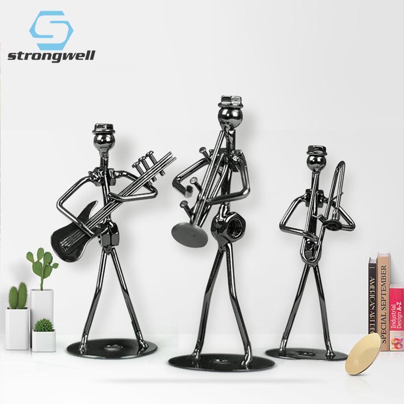 Сильная железная маленькая повязка, модель мужчины, музыкальный инструмент, металлические изделия, офисный стол, украшение для дома, аксесс...