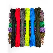 Cordão resistente 31 m x 4mm para acampamento, 9 cores para atividades de treino de sobrevivência, escalada, caminhadas, corda de varal