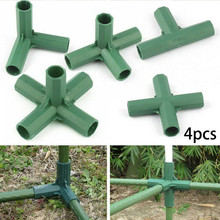 4pcs PVC Fitting Stable Support Heavy Duty Greenhouse Frame Building Connector Pole Joints Adapter 3 4 5-Way Connectors Garden