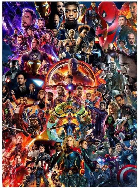 Avengers kim cương thêu full vuông tự làm động vật Daimond tranh dán phim Kim Cương dotz hình Diamant pha lê Poster
