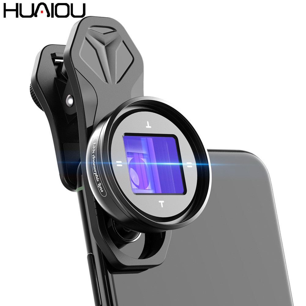 APEXEL 2020 Newest 1.33X Anamorphic Lens Widescreen Camcorders Lens Vlog Movie Shooting Deformation HD Mobile Phone Camera Lens