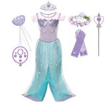 Vestido elegante de princesa con lazo para niñas, disfraz de Halloween, cumpleaños y Carnaval