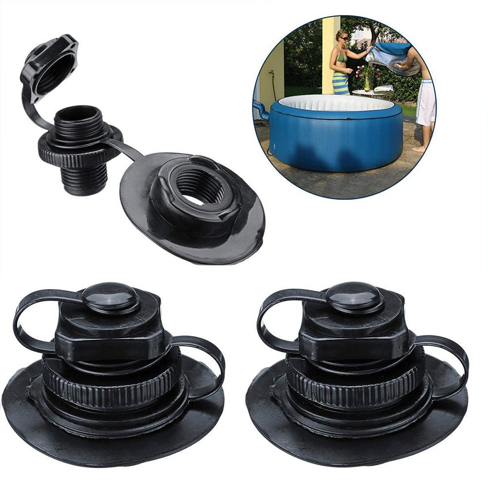 1 Pcs TPU Boston Nozzle Octagonal Valve Inflatable Boat Spa Inflatable Nozzle 2-in-1 Valve Screw Nozzle With Base PVC