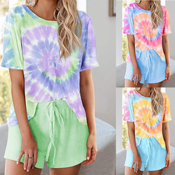 clothing OWLPRINCESS 2020 Summer Women's Casual Two-Piece Short-Sleeved Suit