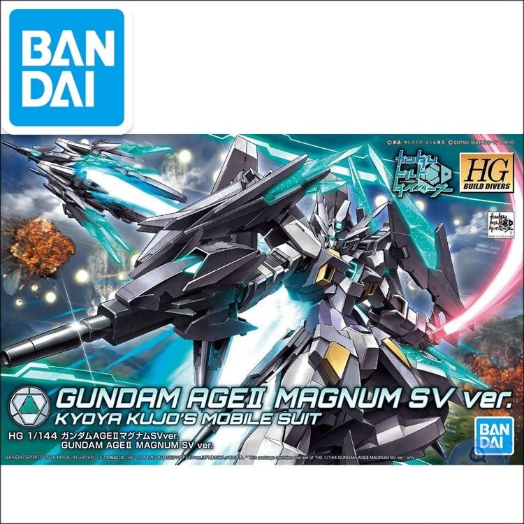 Original Japaness Gundam Model HG 1/144 AGE II MAGNUM SV Ver. GUNDAM  Mobile Suit Kids Toys
