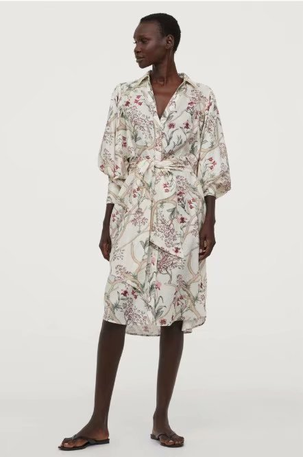 Spring Summer 2020 New European Printed Streetwear Zaraing Women Dress Sheining Vadiming Female Dress Xdn9488