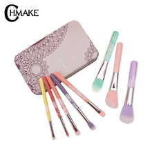 цены CHMAKE Makeup Brushes Set Professional 8pcs Cosmetic Powder Eyeshadow Contour Foundation Make Up Brush Kit CaseSynthetic Hair
