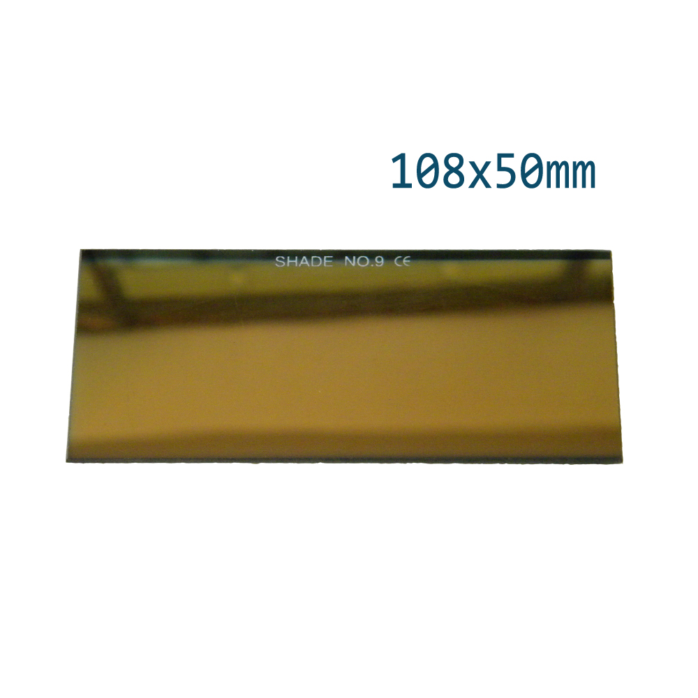 1pc Golden Coatin Black Glass Lens 108x50mm For Welding Goggles Mask Protecting Eye Filter Blue DIN13,11,12 Free Shipping