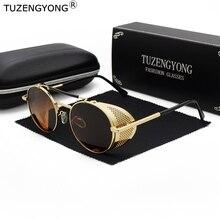 Steampunk Sunglasses TUZENGYONG Metal-Frame Vintage Designer Polarized Men Women Brand